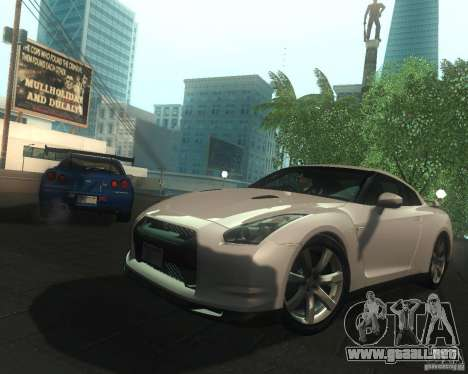 Nissan GTR R35 Spec-V 2010 Stock Wheels para GTA San Andreas interior