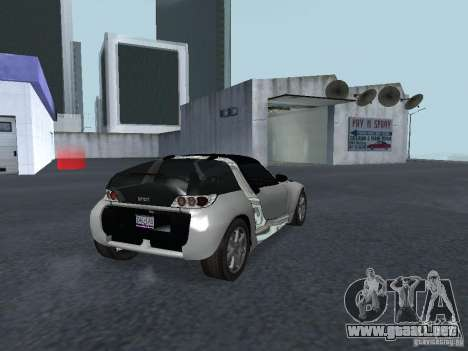 Smart Roadster Coupe para GTA San Andreas vista posterior izquierda