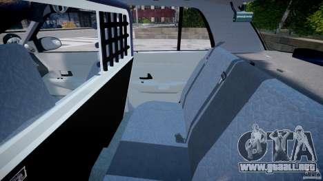 Ford Crown Victoria SFPD K9 Unit [ELS] para GTA 4 vista hacia atrás