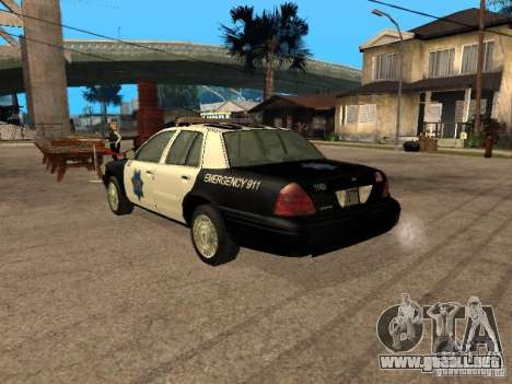 Ford Crown Victoria 2003 Police para GTA San Andreas left