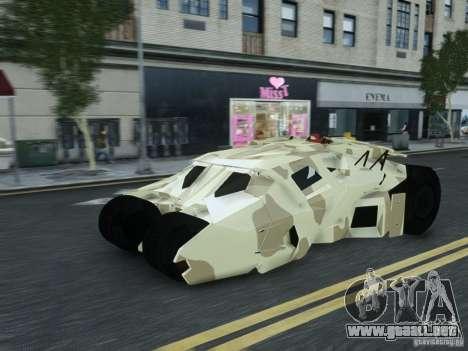 HQ Batman Tumbler para GTA 4 Vista posterior izquierda