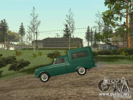 IZH 2715 para GTA San Andreas vista posterior izquierda