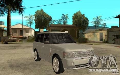 Land Rover Range Rover Supercharged 2009 para GTA San Andreas vista hacia atrás