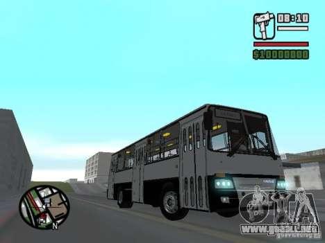 Ikarus 260.06 para GTA San Andreas vista hacia atrás