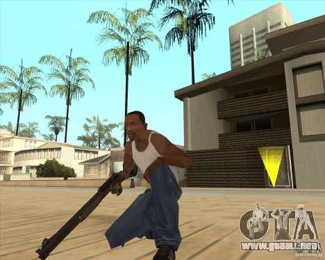 Escopeta automática para GTA San Andreas segunda pantalla