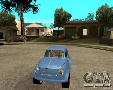 ZAZ Zaporozhets 965 HotRod para GTA San Andreas vista hacia atrás