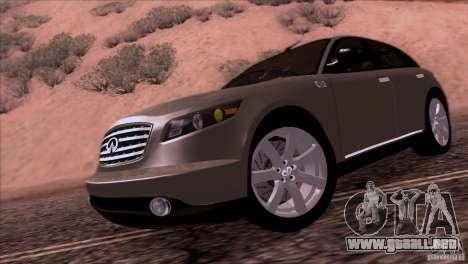 Infiniti FX45 2007 para GTA San Andreas vista posterior izquierda