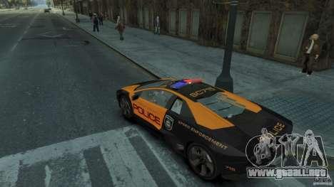 Lamborghini Reventon Police Hot Pursuit para GTA 4 visión correcta