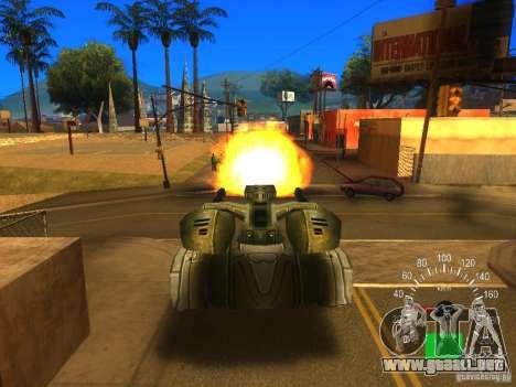 Star Wars Tank v1 para GTA San Andreas vista hacia atrás