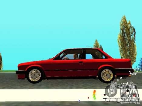 BMW E30 87-91 para visión interna GTA San Andreas