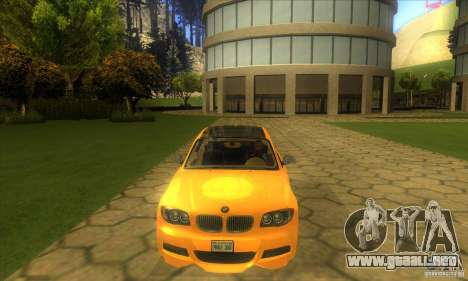 BMW 135i Coupe Custom para visión interna GTA San Andreas