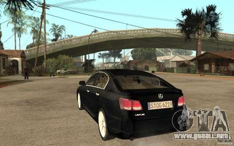 Lexus GS430 2007 para GTA San Andreas vista posterior izquierda