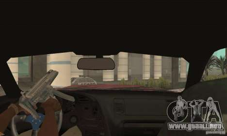 Toyota Supra Tunable 2 para visión interna GTA San Andreas
