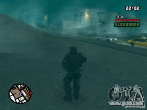 Acosador militar en èkzoskelete para GTA San Andreas tercera pantalla