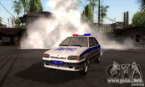 ВАЗ 2114 policía para GTA San Andreas