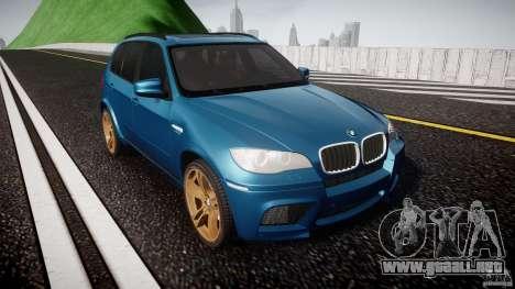 BMW X5 M-Power wheels V-spoke para GTA 4 vista hacia atrás
