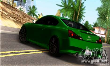 Infiniti IPL G Coupe 2012 para GTA San Andreas left