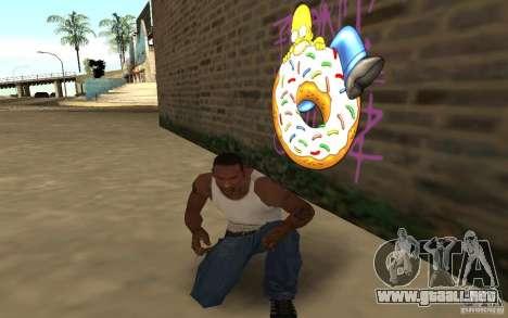 Homer Graffiti Mod para GTA San Andreas tercera pantalla