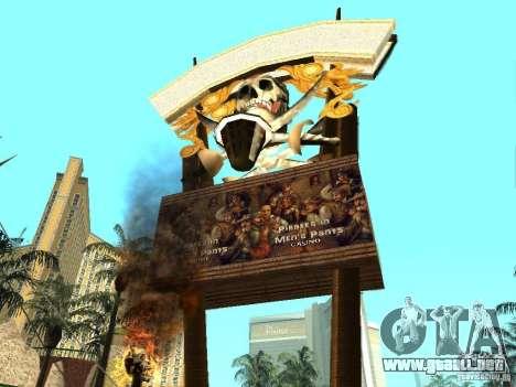 Nuevas texturas para casino Visage para GTA San Andreas segunda pantalla