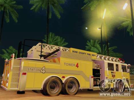 Pierce Arrow XT BCFD Tower Ladder 4 para GTA San Andreas interior