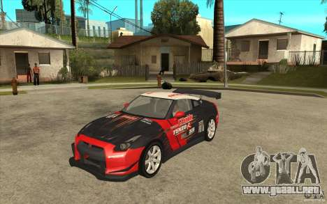 Nissan GT R Shift 2 Edition para GTA San Andreas left