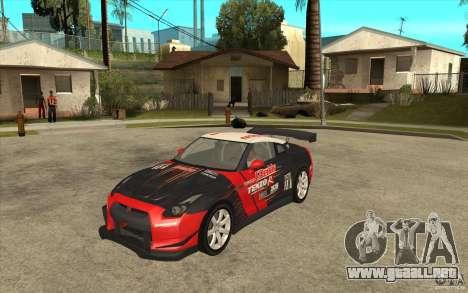 Nissan GT R Shift 2 Edition para GTA San Andreas left