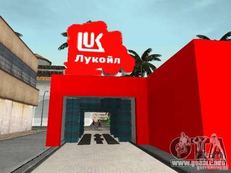 La gasolinera Lukoil para GTA San Andreas séptima pantalla