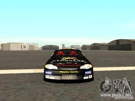 Chevrolet Monte Carlo Nascar CINGULAR Nr.31 para GTA San Andreas vista hacia atrás