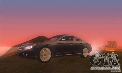 Mercedes-Benz CLS AMG para GTA San Andreas vista hacia atrás