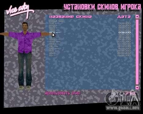 Camisa violeta para GTA Vice City sucesivamente de pantalla