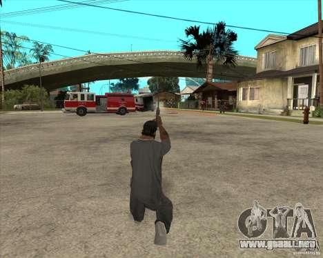 Smith Wesson HD + animation para GTA San Andreas sucesivamente de pantalla