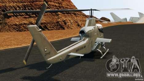 Bell AH-1 Cobra para GTA 4 Vista posterior izquierda