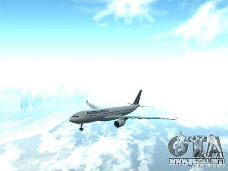 Airbus A330-200 Air France para GTA San Andreas vista hacia atrás