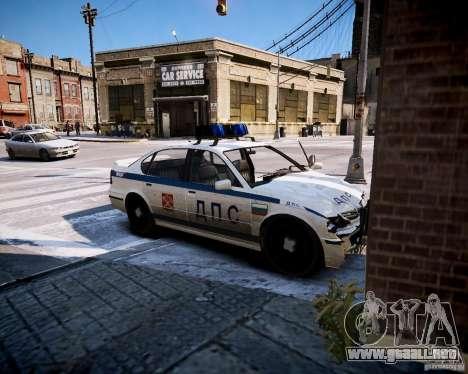 Russian Police Patrol para GTA 4 vista hacia atrás