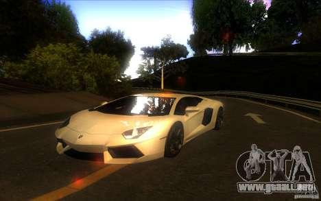 Lamborghini Aventador LP700-4 para GTA San Andreas vista hacia atrás