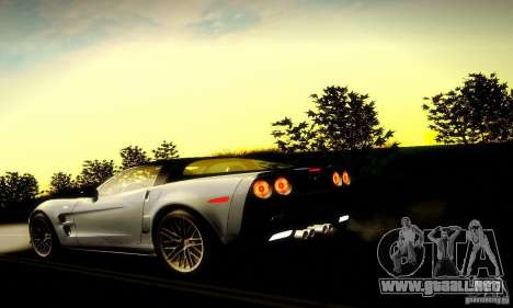 Chevrolet Corvette ZR-1 para vista inferior GTA San Andreas