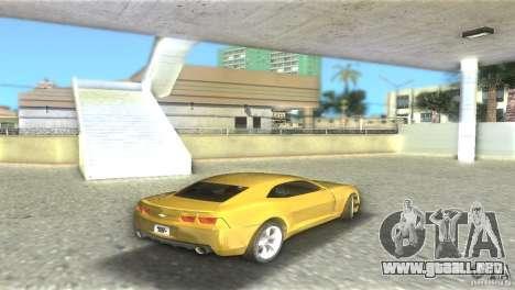 Chevrolet Camaro para GTA Vice City visión correcta
