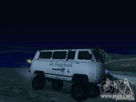 2206 UAZ para vista inferior GTA San Andreas