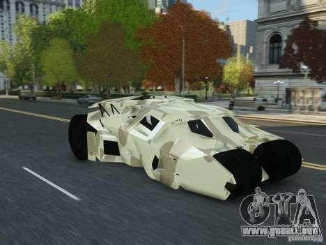 HQ Batman Tumbler para GTA 4 visión correcta