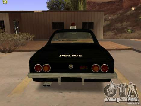 Chevrolet Opala Police para la visión correcta GTA San Andreas