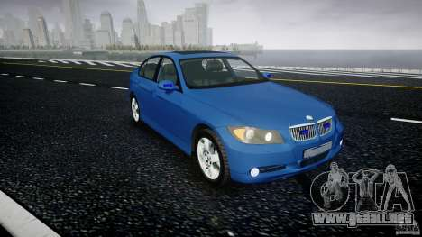BMW 3-Series Unmarked [ELS] para GTA 4 visión correcta