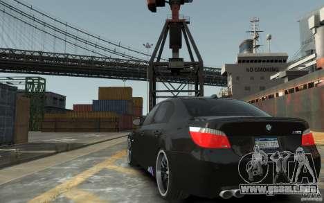 BMW M5 Hamman para GTA 4 Vista posterior izquierda