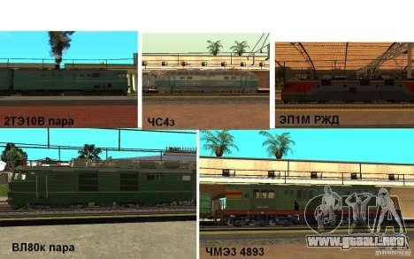 FERROCARRIL mod II para GTA San Andreas
