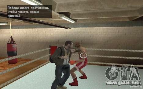 El sistema de combate de GTA IV V 3.0 para GTA San Andreas quinta pantalla