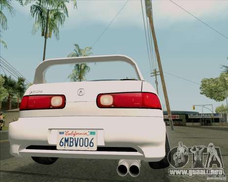 Acura Integra para GTA San Andreas vista hacia atrás