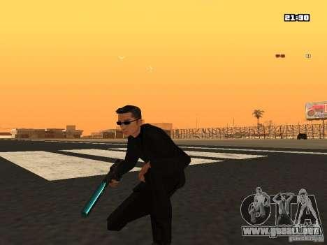 Blue Weapon Pack para GTA San Andreas segunda pantalla