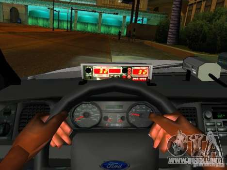 Ford Crown Victoria 2009 New York Police para vista inferior GTA San Andreas