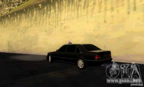 Mercedes-Benz W140 S600 Long Deputat Style para GTA San Andreas left