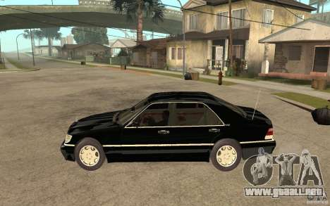 Mercedes-Benz S600 V12 W140 1998 V1.3 para GTA San Andreas left