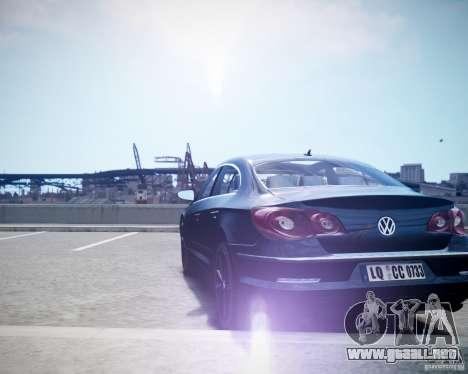 Volkswagen Passat CC para GTA 4 Vista posterior izquierda